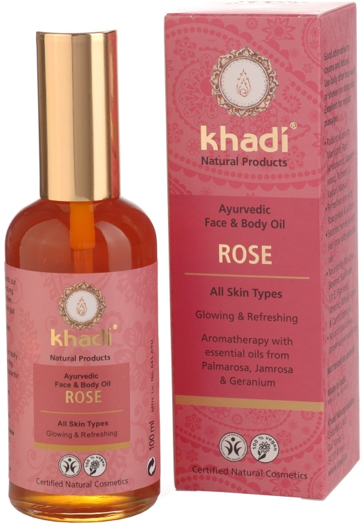 """Масло за лице и тяло """"Роза"""" - Khadi — снимка N1"""