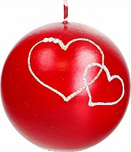 Парфюмерия и Козметика Декоративна свещ червена топка, 10см - Artman Forever