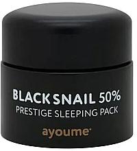 Парфюмерия и Козметика Антистарееща нощна маска за лице със секрет от черен охлюв, без отмиване - Ayoume Black Snail Prestige Sleeping Pack