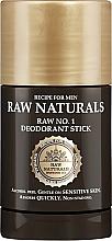 Парфюмерия и Козметика Стик дезодорант за мъже - Recipe For Men RAW Naturals No. 1 Deodorant Stick