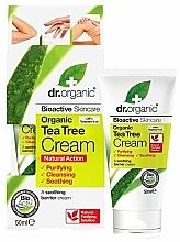 Парфюмерия и Козметика Успокояващ крем за тяло с чаено дърво - Dr. Organic Bioactive Skincare Tea Tree Cream