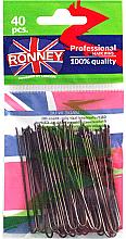 Парфюми, Парфюмерия, козметика Фуркети, кафяви 65 мм, 40 бр. - Ronney Brown Hair Pins