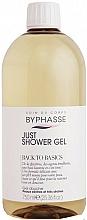 Парфюмерия и Козметика Душ гел за суха и много суха кожа - Byphasse Back To Basics Just Shower Gel Dry And Very Dry Skin