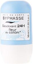 Парфюми, Парфюмерия, козметика Рол-он дезодорант с аромат на памук - Byphasse 24h Deodorant Cotton Flower