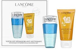 Парфюмерия и Козметика Комплект за лице - Lancome Miel En Mousse (пяна/50ml + демакиант/75ml)