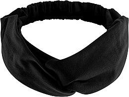 """Парфюмерия и Козметика Лента за глава, от плат, черна """"Knit Twist"""" - MakeUp Hair Accessories"""