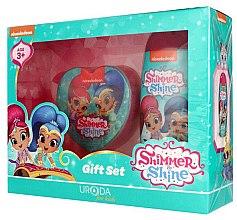 Парфюмерия и Козметика Детски комплект за баня - Uroda For Kids Shimmer & Shine (душ гел 250ml + гъба)