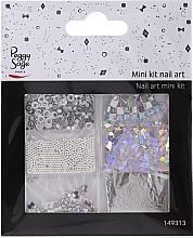 Парфюмерия и Козметика Комплект декорации за нокти, 149313 - Peggy Sage Mini Kit Nail Art Argent (6шт)