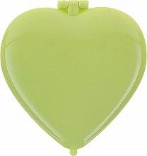 """Парфюмерия и Козметика Компактно огледало """"Сърце"""" 85550, зелено - Top Choice Colours Mirror"""