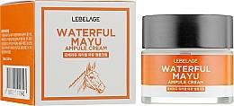 Парфюмерия и Козметика Ампулен крем за лице с екстракт от конско масло - Lebelage Waterful Mayu Ampule Cream