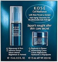 Парфюмерия и Козметика Комплект за лице - KOSE Rice Power Extract Cell Radiance Anti-Aging Discovery Kit (крем/15ml+серум/15ml)