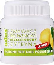 Парфюмерия и Козметика Лакочистител с гъба, без ацетон и аромат на лимон - Ados Acetone Free Nail Polish Remover