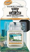 Парфюми, Парфюмерия, козметика Ароматизатор за кола - Yankee Candle Car Jar Ultimate Clean Cotton