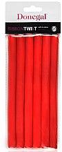 Парфюми, Парфюмерия, козметика Ролки за коса 5004, 1,3см/18см, червени - Donegal Ribbon Twist