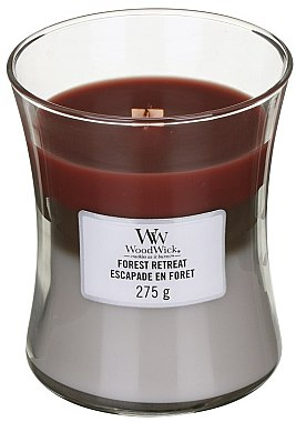 Ароматна свещ в чаша - WoodWick Hourglass Trilogy Candle Forest Retreat — снимка N1