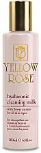 Парфюмерия и Козметика Почистващо мляко за лице с хиалуронова киселина - Yellow Rose Hyaluronic Cleansing Milk
