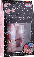 Парфюмерия и Козметика Комплект за деца - Uroda Polska Shimmer Shine Gift Set (душ гел/250ml + спрей за тяло/110ml + стикери)