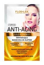 Парфюмерия и Козметика Маска за лице - Floslek Anti-Aging Gold & Energy Mask