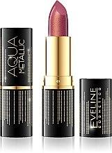 Парфюми, Парфюмерия, козметика Червило за устни - Eveline Cosmetics Aqua Metallic Lipstick