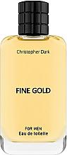 Парфюмерия и Козметика Christopher Dark Fine Gold - Тоалетна вода