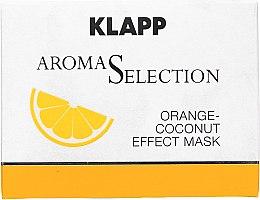 Парфюмерия и Козметика Крем маска за лице с екстракт от портокал и кокос - Klapp Aroma Selection Orange-Coconut Mask