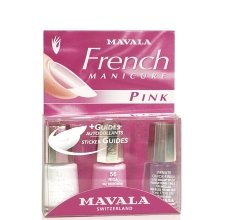 "Парфюми, Парфюмерия, козметика Комплект натурален френски маникюр ""Розов гвоздей"" - Mavala Kit Natural French Pink (nail/2х5ml + dry/5ml)"