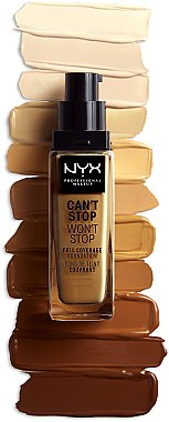Фон дьо тен - NYX Professional Makeup Can't Stop Won't Stop Full Coverage Foundation — снимка N2