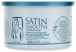 Парфюми, Парфюмерия, козметика Синя кола маска за мъже - Satin Smooth Titanium Blue Wax