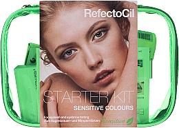 Комплект за боядисване на вежди и мигли - RefectoCil Lash & Brow Starter Sensitive Kit (dye/3x15ml + developer/gel/60ml + tint/remover/150ml + artist/palette + pads + folder) — снимка N1