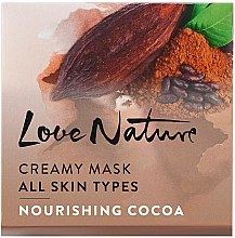 "Подхранваща маска за лице ""Какао"" - Oriflame Love Nature Creamy Mask — снимка N1"