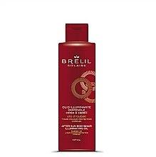 Парфюмерия и Козметика Озаряващо масло за коса и тяло за след слънчеви бани - Brelil Solaire Oil