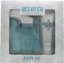 Парфюмерия и Козметика Replay Relover - Комплект (тоал. вода/50ml + шампоан/100ml)