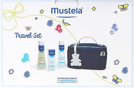 Комплект за пътуване - Mustela Beauty Travel Set (shmp/200ml + foam/200ml + cr/40ml + bag)