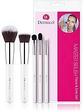 Парфюмерия и Козметика Комплект четки за грим - Dermacol 5 Cosmetic Brushes
