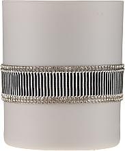 Парфюмерия и Козметика Ароматна свещ черно-сива, 8х9,5см - Artman Crystal Glass