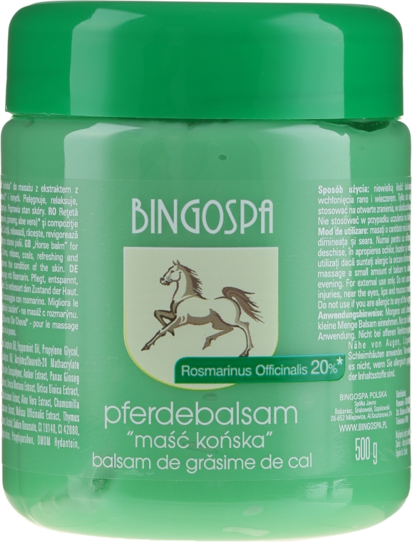 Конски мехлем с екстракт от розмарин - BingoSpa Ointment Horse With Rosemary