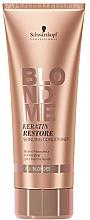 "Парфюмерия и Козметика Балсам ""Кератиново възстановяване "" за всеки тип русо - Schwarzkopf Professional Blondme Keratin Restore Bonding Conditioner"
