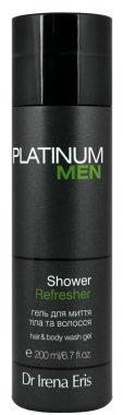 Измиващ гел за тяло и коса - Dr Irena Eris Platinum Men Shower Refresher Hair Body Wash Gel — снимка N1