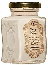 Парфюмерия и Козметика Маска за лице против стареене - La Sultane De Saba Bio Argan & Orange Blossom Argan Anti-Ageing Face Mask Orange Blossom