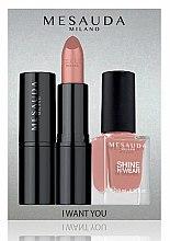 Парфюми, Парфюмерия, козметика Набор - Mesauda Milano I Want You Kit (lipstick/3.5g + nail polish/10ml) (Bubble Gum)