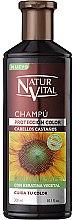Парфюмерия и Козметика Шампоан за зпазване на цвета на боядисана коса - Natur Vital Coloursafe Henna Colour Shampoo Chestnut Hair
