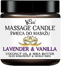 """Парфюмерия и Козметика Масажна свещ """"Лавандула и ванилия"""" - VCee Massage Candle Lavender & Vanilla Coconut Oil & Shea Butter"""