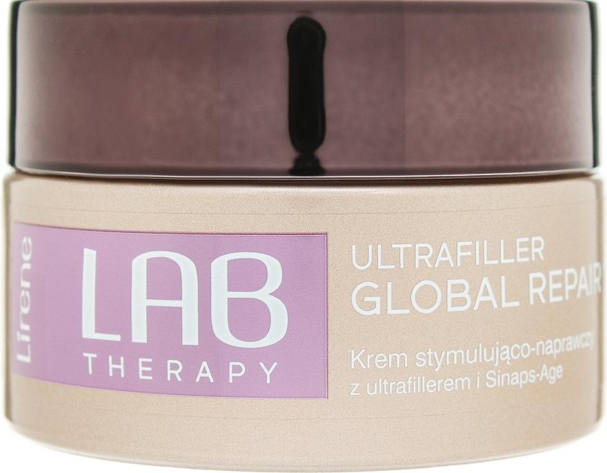 Нощен подмладяващ и възстановяващ крем за лице - Lirene Lab Therapy Ultrafiller Global Repair 15% — снимка N2