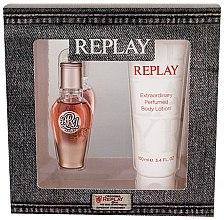 Парфюми, Парфюмерия, козметика Replay True Replay For Her - Комплект (edp/20 ml + b/lot 100 ml)