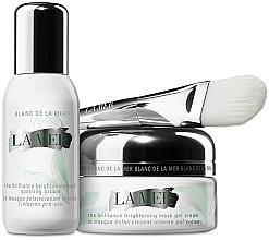 Парфюмерия и Козметика Комплект за лице - La Mer The Brilliance Brightening Mask Duo (крем/50ml + основа/30ml + четка)