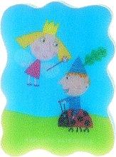 """Парфюмерия и Козметика Детска гъба за баня """"Бен и Холи"""", светлосиня 2 - Suavipiel Ben & Holly"""