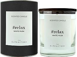 "Парфюмерия и Козметика Ароматна свещ ""Бял мускус"" - Ambientair The Olphactory Relax White Musk Black Design"