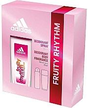 Парфюмерия и Козметика Adidas Fruity Rhythm - Компелкт (део спрей/75ml+део/150ml)