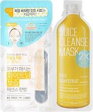"""Парфюми, Парфюмерия, козметика Двуфазна маска за лице """"Кейл и грейпфрут"""" - Ariul Juice Cleanse 2X Plus Mask Pack Kale & Grapefruit"""
