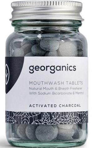 """Таблетки за почистване на устна кухина """"Активен въглен"""" - Georganics Mouthwash Tablets Activated Charcoal"""